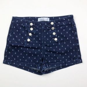 Almost Famous High Waisted Sailor Denim Shorts